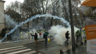 """""""Yellow vests"""" protest in Nantes"""