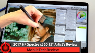 "2017 HP Spectre x360 15"" Review for Artists"