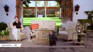 Belham Living Bella Conversation Set With Coronado Gas Fire Pit Table - Product Review Video