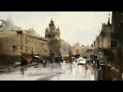 Watercolor Landscape Paintings - Artist Chien Chung Wei -Taiwan - Slide Show Part 3
