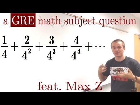 An almost-geometric series, 1/4+2/4^2+3/4^3+4/4^4+...=? , a GRE math subject question