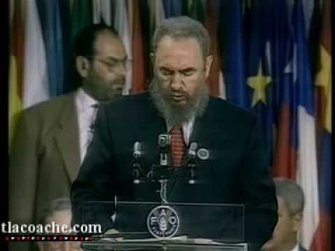 El Comandante Fidel Castro ante la Fao (Hasta Siempre Comandante) - YouTube