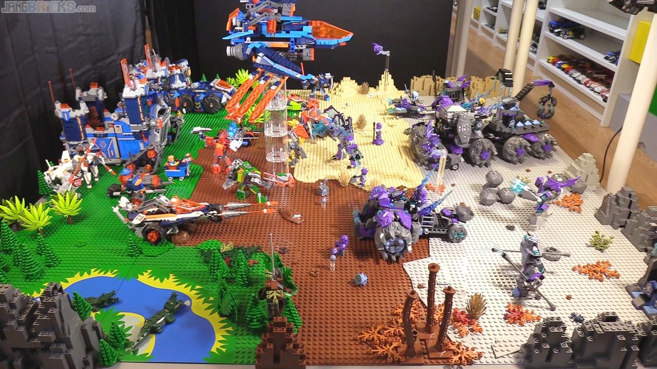 Lego Nexo Knights Season 3 Battlefield Display Youtube