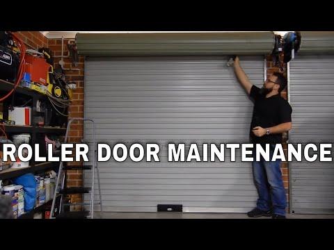 Garage Roller Door Maintenance Fixing Squeaks And Lubrication Youtube