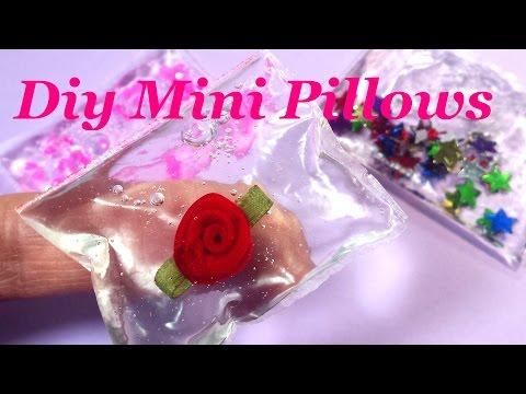 """DIY Miniature """"Liquid Glass"""" Squishy Doll Pillows"""