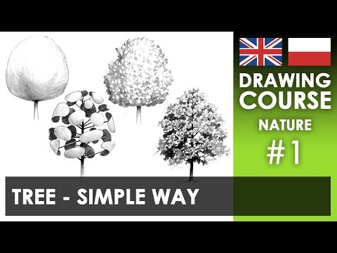 Drawing tutorial - Tree: simple way | Kurs rysunku - Drzewo: prosty sposób [S02E01 ENG/PL]