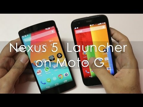 Nexus 5 KitKat Google Experience Launcher on Moto G