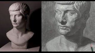 Plaster cast Drawing  Step by Step