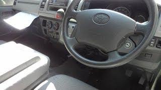 2004 Toyota Hiace Diesel 4WD - 9 Seat Van.