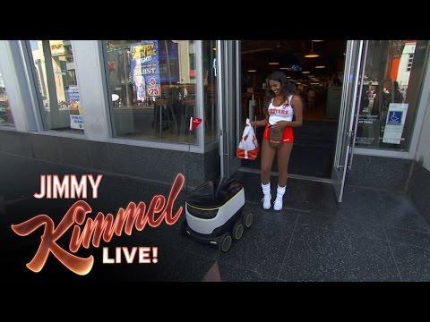 Jimmy Kimmel Orders Food from DoorDash Robot
