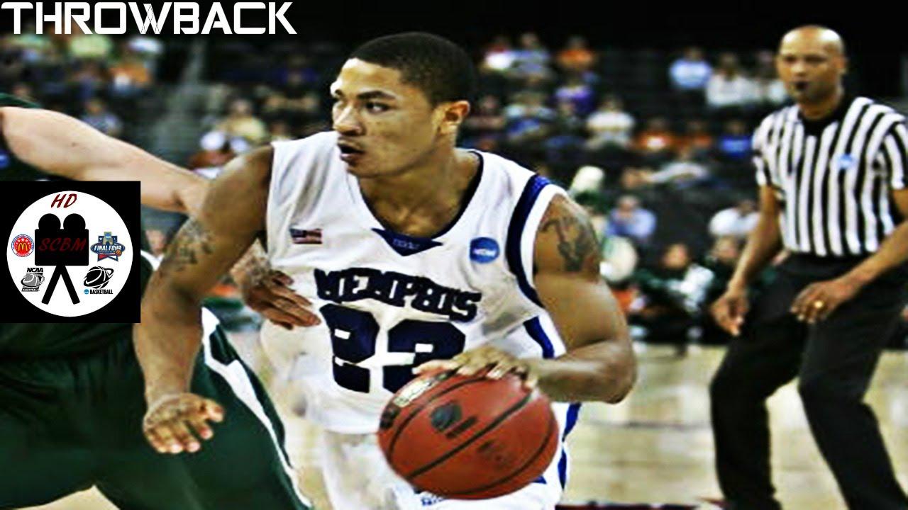 c541a1e5bf5b Derrick Rose Memphis Full Highlights vs Michigan State Semi-Finals 27 Pts 5  Asts Young D-Rose - YouTube