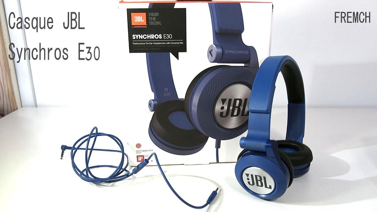 Test Du Casque Jbl Synchros E30 Franais Youtube Headset