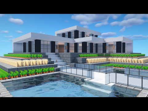 Easy Minecraft: Small Modern House Tutorial - How To Build A House In Minecraft #41