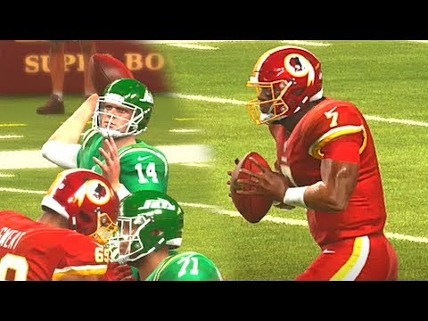 the best attitude b8a17 c5f6f Madden 20 HYPE Dwayne Haskins Highlights New York Jets vs Washington  Redskins Color Rush Ep 3