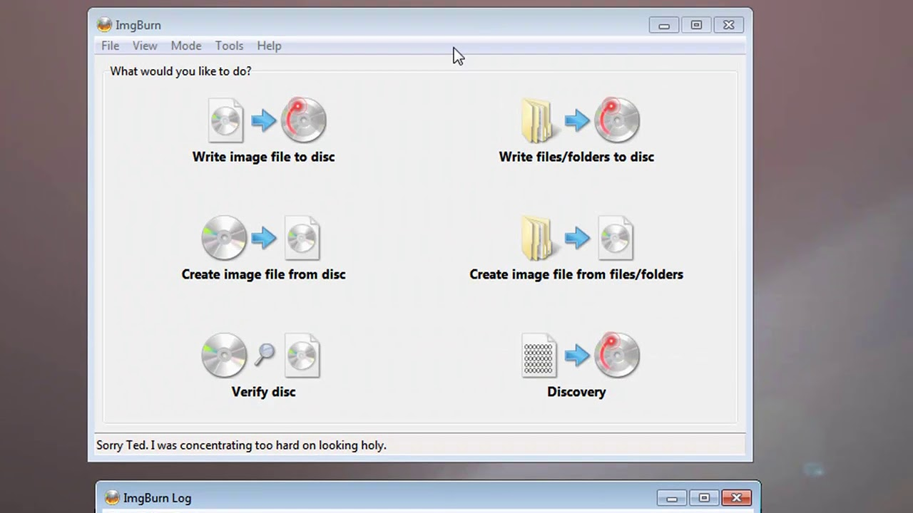 Using ImgBurn to burn DVDs and BluRay discs