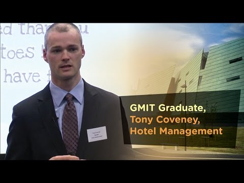 Hotel Management Graduate, Tony Coveney,  - Galway Mayo Institute of Technology - GMIT