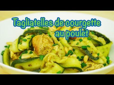 recette-minceur---tagliatelles-de-courgette-au-poulet