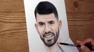 Drawing Sergio Aguero - World Cup 2018