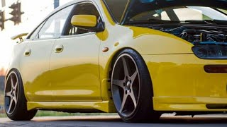 Mazda lantis Yellow car v6 turbo speed Drag 😎😎 (Mazda Lantis Tr )