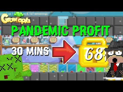 68 WLS IN 30 MINUTES?!?! [ PANDEMIC PROFIT ]   Growtopia