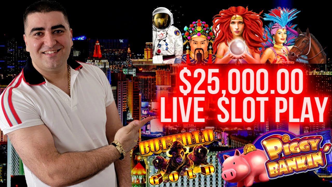 Download $25,000 Live Casino Play & JACKPOTS | High Limit Slot Machines !