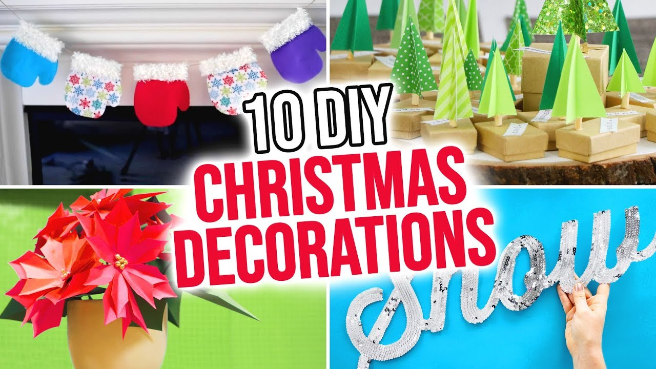 10 Diy Christmas Decorations Hgtv Handmade Youtube