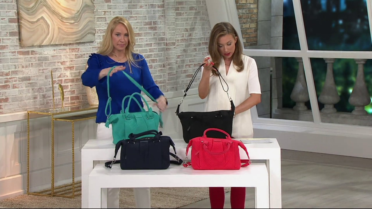 e415674f85 Vera Bradley Microfiber Hadley Satchel Handbag on QVC - YouTube