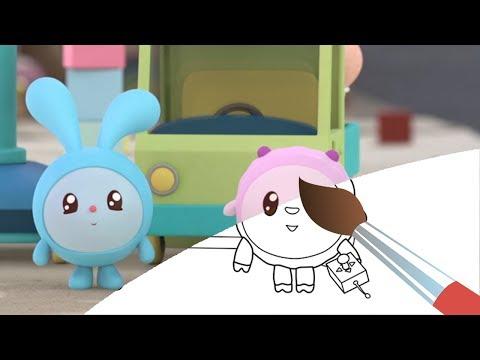 МАЛЫШАРИКИ - Сборник Раскрасок 5 - Мультики  для детей