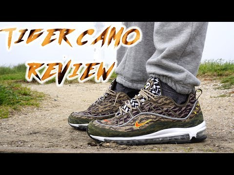NIKE AIR MAX 98 TIGER CAMO AOP PACK UNBOXING, detailed REVIEW AND ON FEET