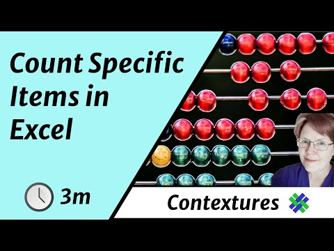 How to Count Specific Items in a List with Excel COUNTIF