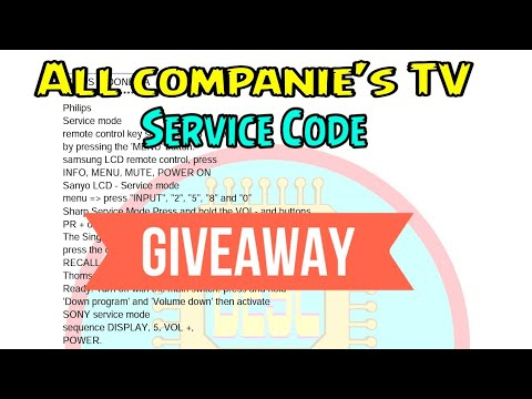 All companie's LCD LED TV service menu code