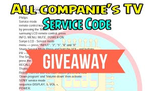 Led Tv Service Code