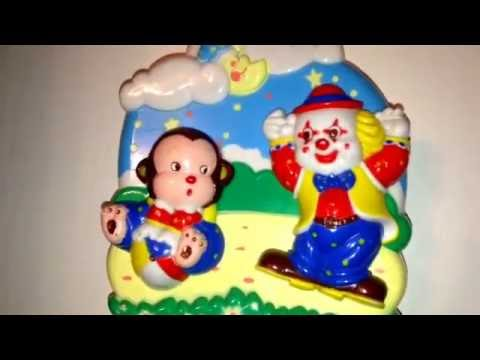 Memories Song Musical Clown & Monkey Children's Wind-Up Cot Toy Video