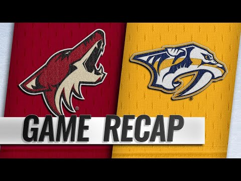Hill earns first NHL shutout as Coyotes top Predators