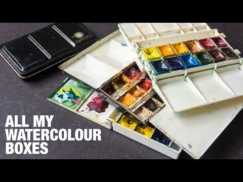 Almost All my Watercolour Palette Boxes (2018)