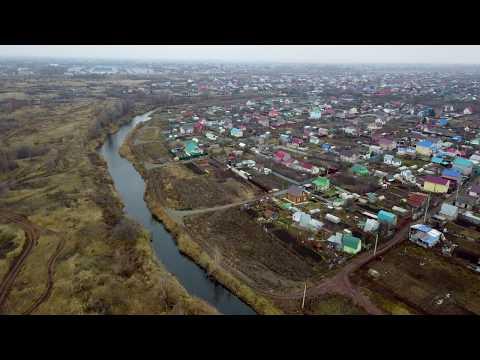 Посёлок Лебедь / р.Самара  video 4k