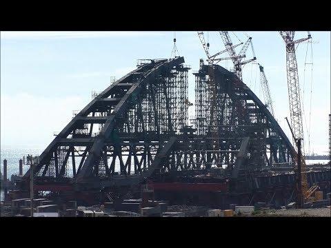 Строительство Керченского моста (июнь, 2017).
