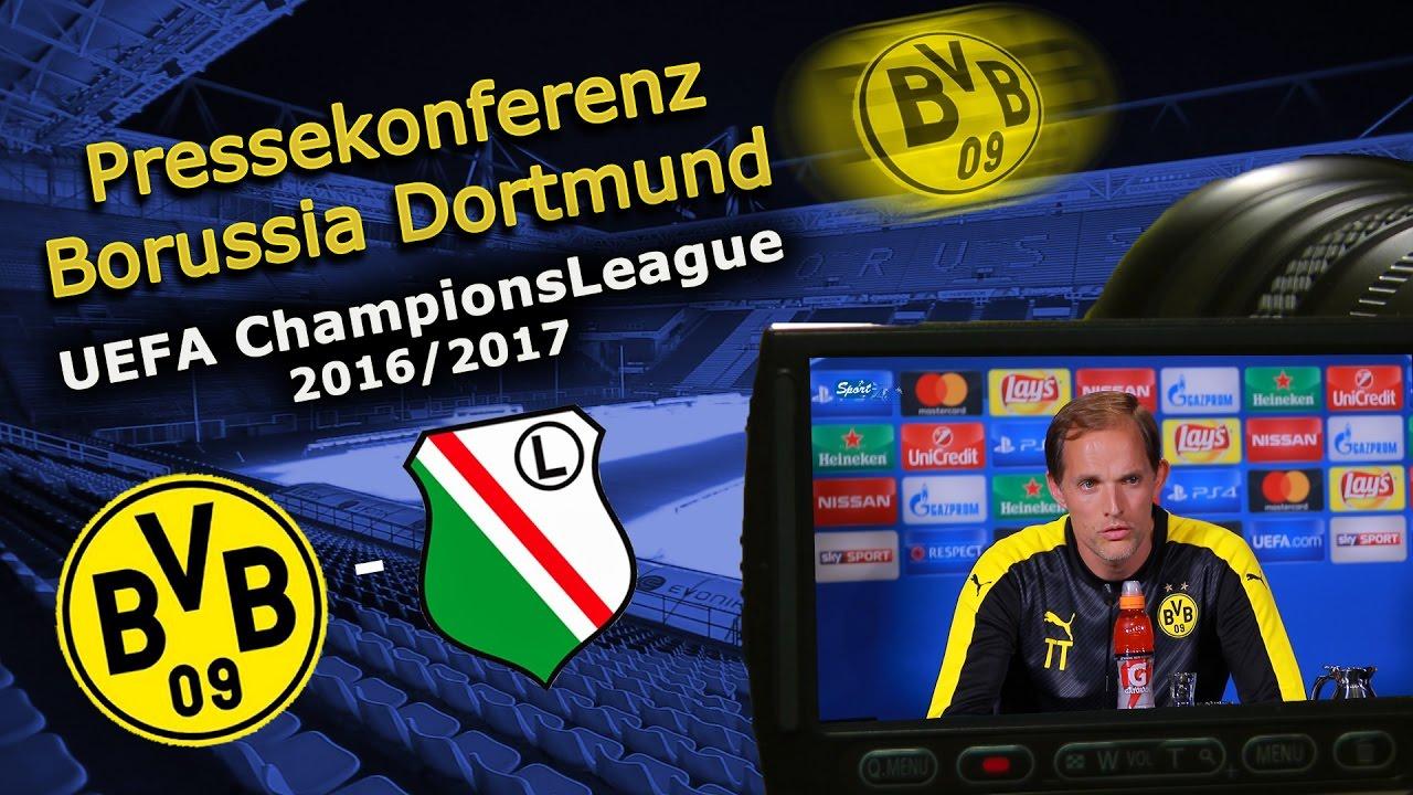 Borussia Dortmund - Legia Warschau: Pk mit Thomas Tuchel