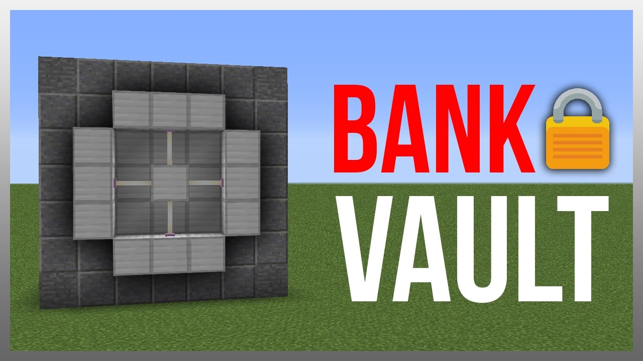 Minecraft 1 12: Redstone Tutorial - Ultimate Vault! (Store Valuables)