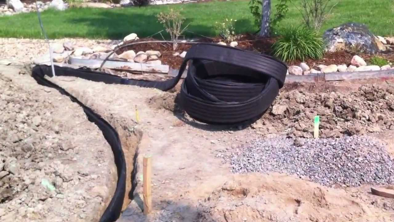 broomfield landscape contractor installing drainage for run off