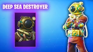 The New DEEP SEA skins in Fortnite... (Deep Sea Destroyer and Deep Sea Dominator Gamplay)