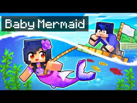 Playing as a SECRET Baby MERMAID In Minecraft!
