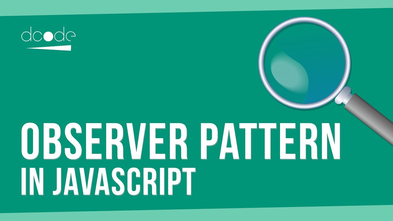 Observer Pattern Javascript Awesome Inspiration Ideas