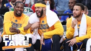 Stephen A. Complains About Warriors Dominating In Playoffs So Far   First Take   April 25, 2017