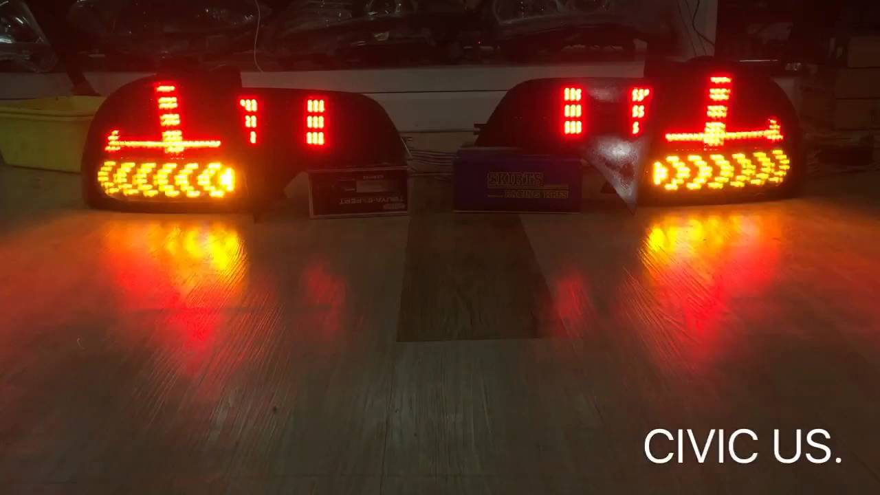 Civic Us Taillight Led Step By K Con
