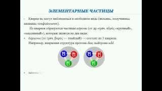 Презентация. 11 класс. III.5. Элементарные частицы. Ускорители