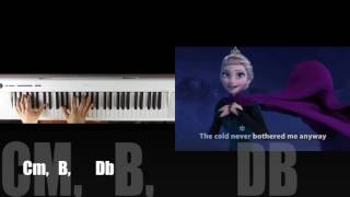 Frozen Let it go - Chords and lyrics