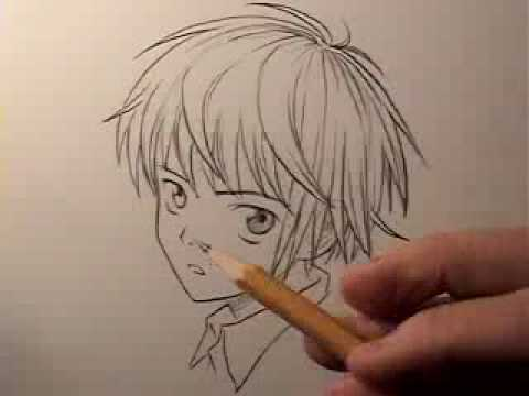 How to draw manga hair boys