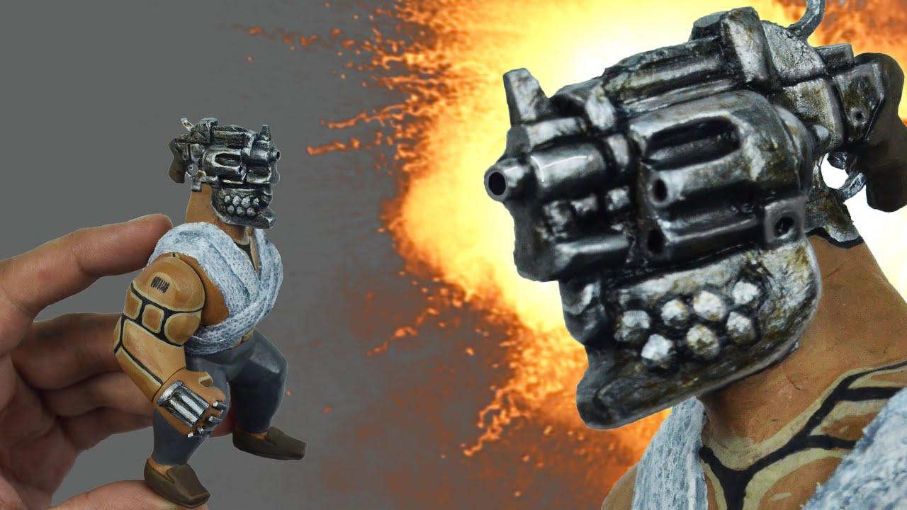 """Пистолетоголовый. Самодельная кастомная фигурка по аниме """"Жизнь без оружия"""" (Че́ллендж 1/12)"""