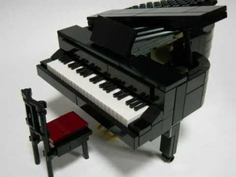lego grand piano legoland size ver 2 youtube. Black Bedroom Furniture Sets. Home Design Ideas